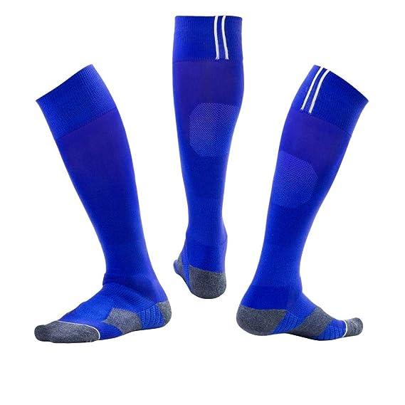 WADUANRUN Calcetines de Fútbol/Calcetines de fútbol, niños y niñas ...