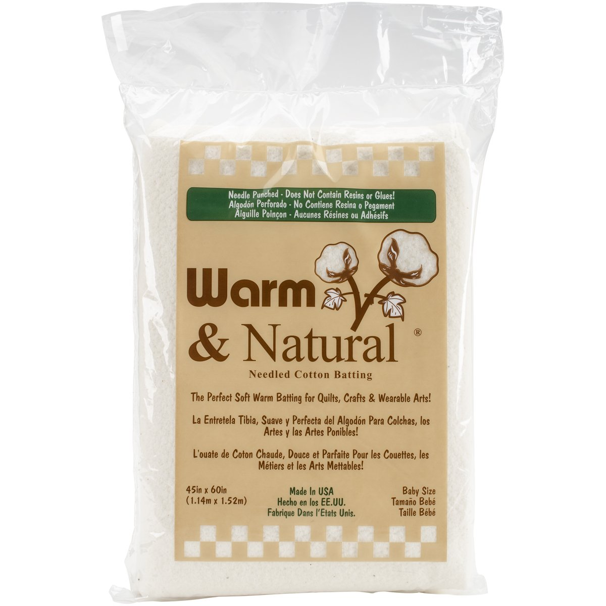 Amazon.com: Warm & Natural Cotton Batting-Crib Size 45 X60 : Arts ... : quilt batting reviews - Adamdwight.com
