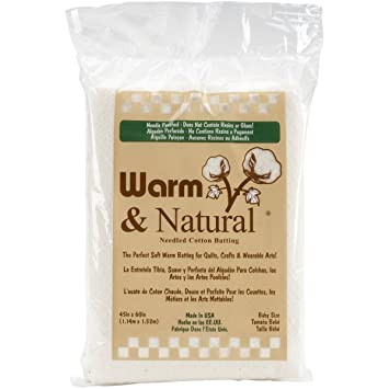 Amazon.com: Warm Company Batting 2322 Warm & Natural Cotton ... : quilt batting sizes - Adamdwight.com