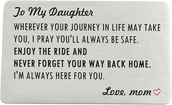 Gift Card Gift for Her Daughter Card Graduation Gift Graduation Card