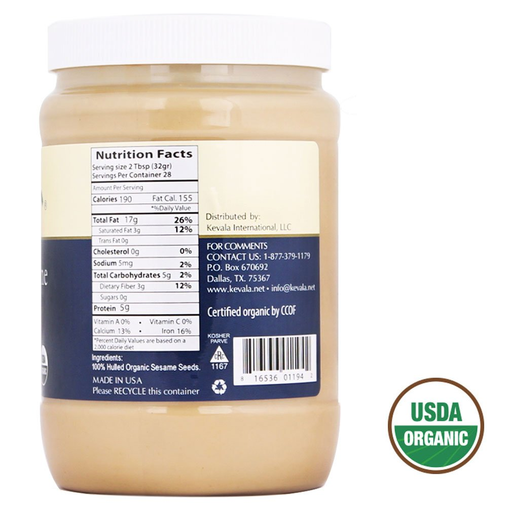 Amazon.com : Kevala Organic Sesami Tahini, 56 Ounce : Grocery & Gourmet Food