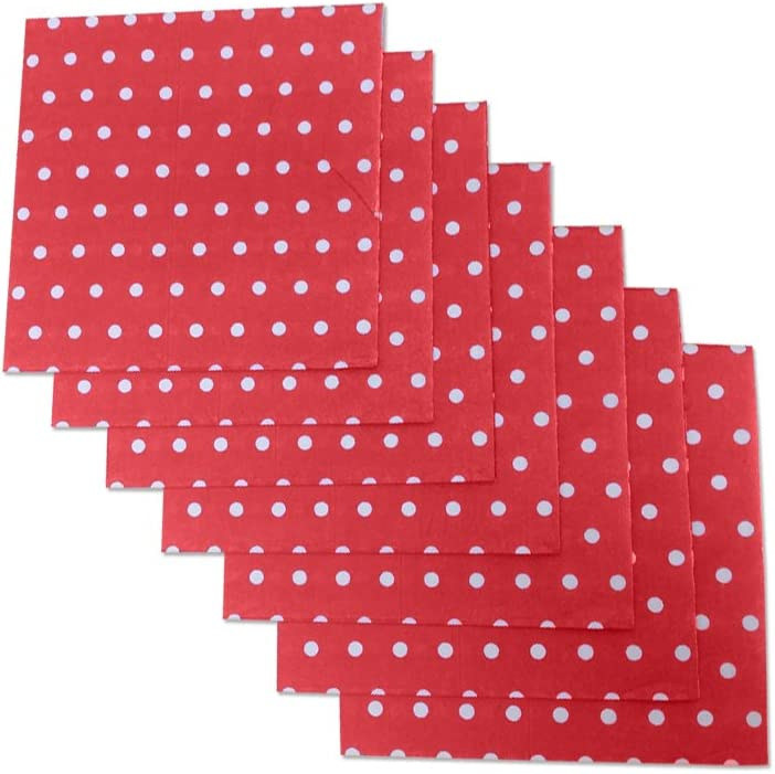 Red And White Polka Dot Party Napkins, 40 Count, 6.5