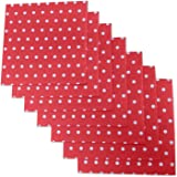 "Red And White Polka Dot Party Napkins, 40 Count, 6.5"" X 6.5"" Premium Luncheon Napkins. Great For Parties, Birthdays, Weddings, Reunions And Much More. By Premium Disposables."