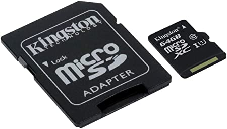 Kingston 64GB Spice Mobile Mi-518 MicroSDXC Canvas Select Plus Card Verified by SanFlash. 100MBs Works with Kingston