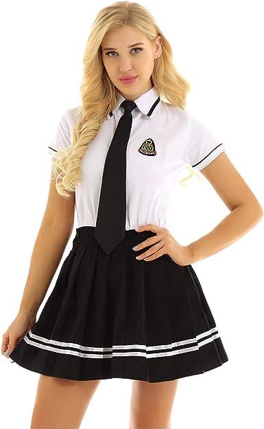 ranrann Uniforme Escolar Japones para Mujer Disfraz de Colegiala ...