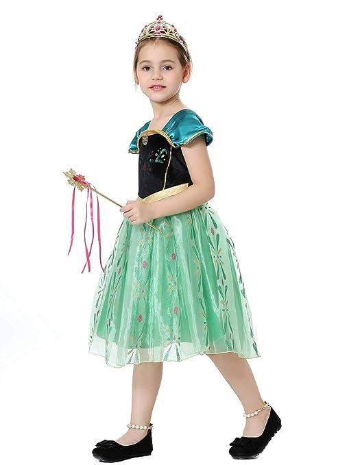 Pretty Princess Disfraces Princesa Vestido niña Trajes de Fiesta de Reina de Nieve Cosplay 2-3 años TS104