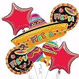Spanish Fiesta Balloons Bouquet Mexican Party Decoration Supplies Cinco De Mayo