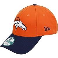 New Era League 9Forty Denver Broncos offical team färg baseballkeps, orange, en storlek