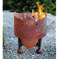 Feuerkorb klein Corten bronze Fire Basket ✔ rund ✔ rostig (Edelrost)
