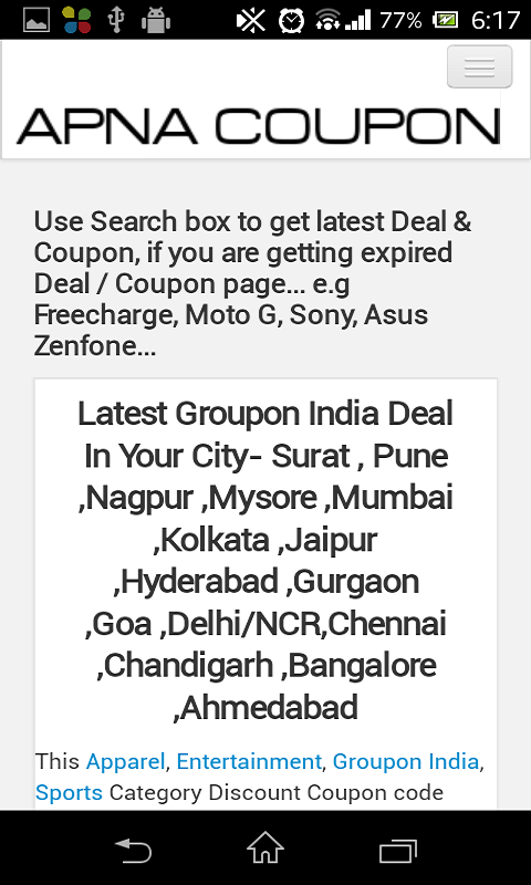 Amazon Com Apna Coupon Appstore For Android