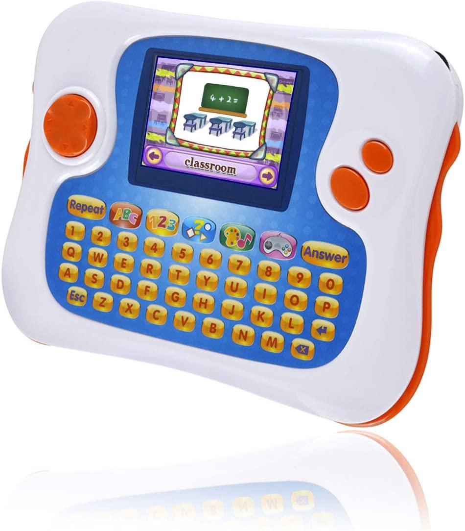 Educational Toy with 104 Learning Apps Preloaded,Support TV Out Function,Best Choice for Kids-Toddlers Early Education Learn Smart Handheld Console,English-Spanish Bilingual Learning Tablet