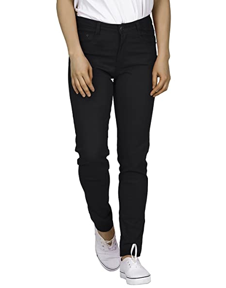 a1017aad090 HDE Women s Mid-Rise Stretchy Denim Slim Fit Skinny Jeans at Amazon ...