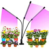 Grow Light, 30W Tri Head Timing LED Plant Grow Lights for Indoor Plants with Red Blue Spectrum, Adjustable Gooseneck, Auto ON