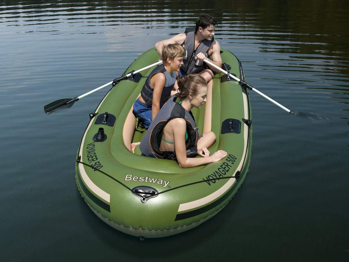 Barca Hinchable Bestway Voyager 500 Para 3 persona 2 remos: Amazon ...
