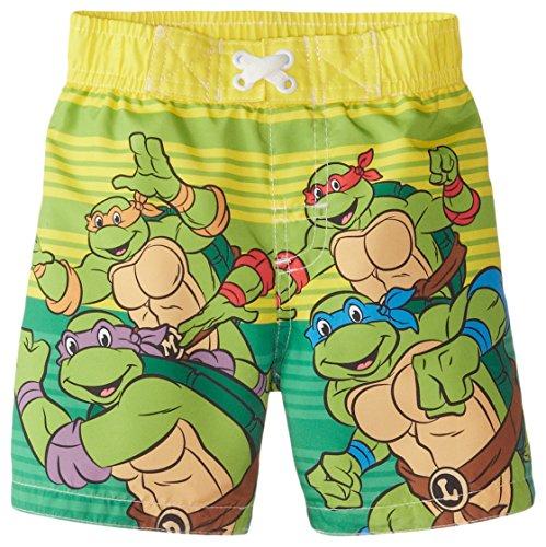[Disney Baby Boys' TMNT Trunk, Green, 18 Months] (Ninja Turtle Suits)