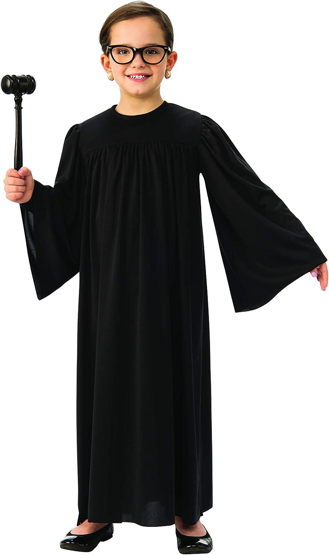 Amazon Com Judge Robe For Kids Black Supreme Court Justice Robe Clothing