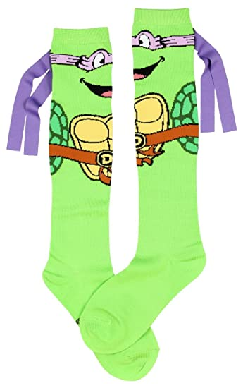 3c191a7ced3 Amazon.com  Teenage Mutant Ninja Turtles Don With Mask Knee High Socks   Clothing