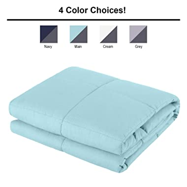 ALPHA HOME Weighted Blanket 25 lbs, 60 x80  Heavy Blanket for Adults and Children- 100% Cotton Material with Glass Beads, Main
