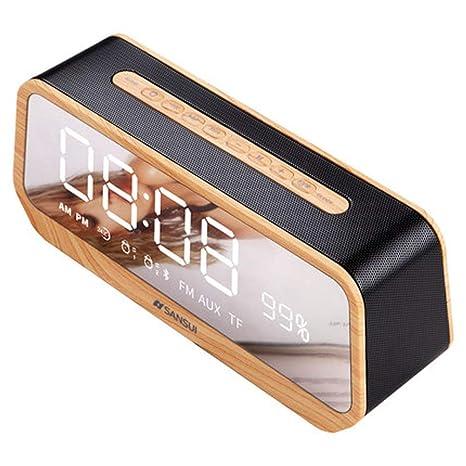 Altavoz Bluetooth inalámbrico Estuche de madera con altavoz ...