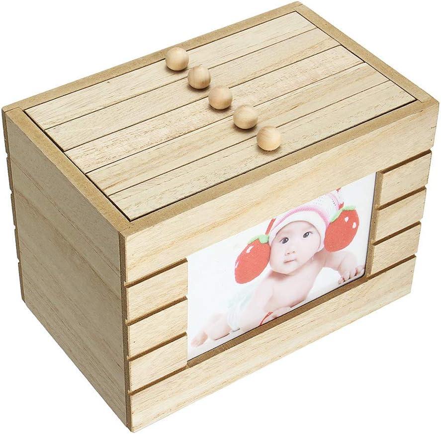 FEDBNET - Caja de madera para 6 recuerdos, caja de madera, álbum ...