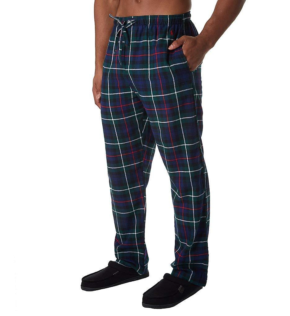 Polo Ralph Lauren Flannel 100% Cotton Plaid Pajama Pant (P005HR) M/Highland Plaid