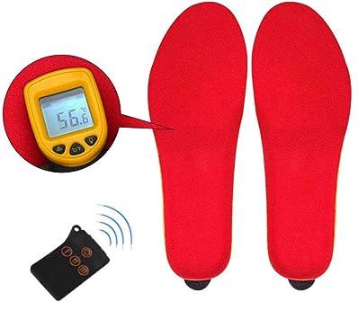 Elektrisch Heated Beheizbare Einlegesohlen Beheizte Schuheinlagen Heizsohlen rot