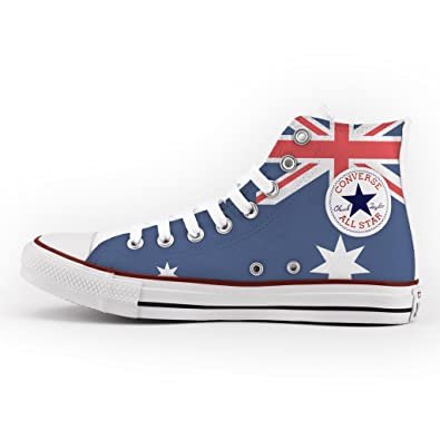 e403469054fe Converse All Star High Customized and Printed - handmade shoes - Italian  Brand - Australian Flag  Amazon.co.uk  Shoes   Bags
