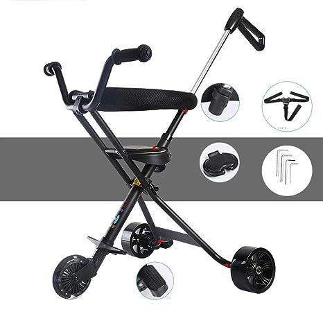 Peso ligero Portátil Pedal del cochecito de bebé,Apto para 3-6 Plegable Carro