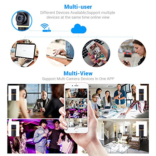 1080P Wireless WiFi Mini Camera- SOOSPY Indoor Outdoor Portable Small Security Camera /Nanny Cam with Motion Detection(IOS&Android) by SOOSPY (Image #5)
