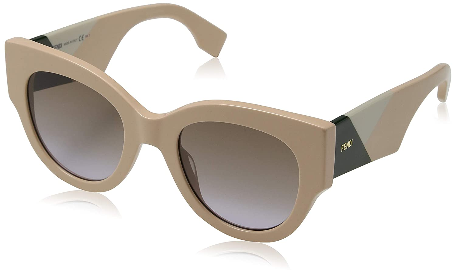 d10b907bde3a Amazon.com  Fendi Women s Cat Eye Colorblock Sunglasses