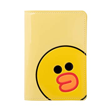 9450acbf935e Line Friends Enamel Passport Holder - SALLY Character Wallet Cover Travel  Organizer, Yellow