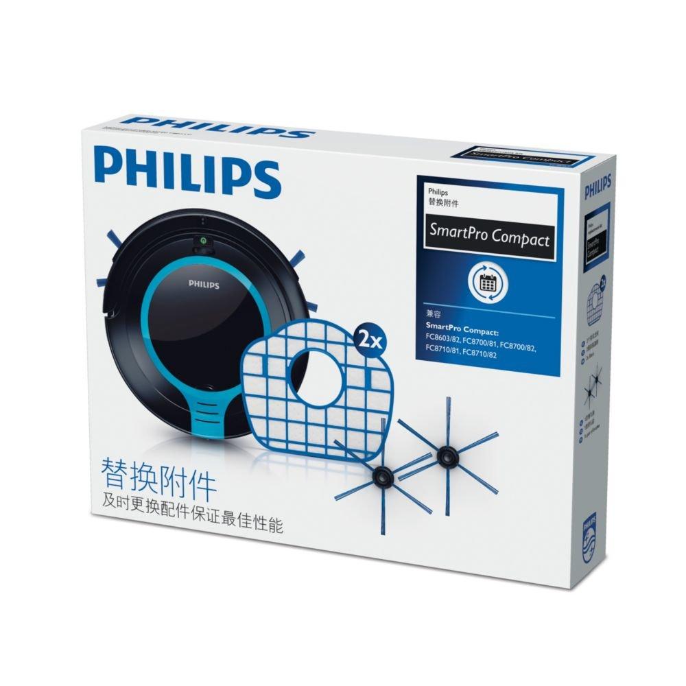 Philips SmartPro Compact Robot aspirador FC8067/01 - Accesorio para aspiradora (Robot vacuum, Filtro y cepillo, Azul, Blanco, Philips SmartPro Compact ...