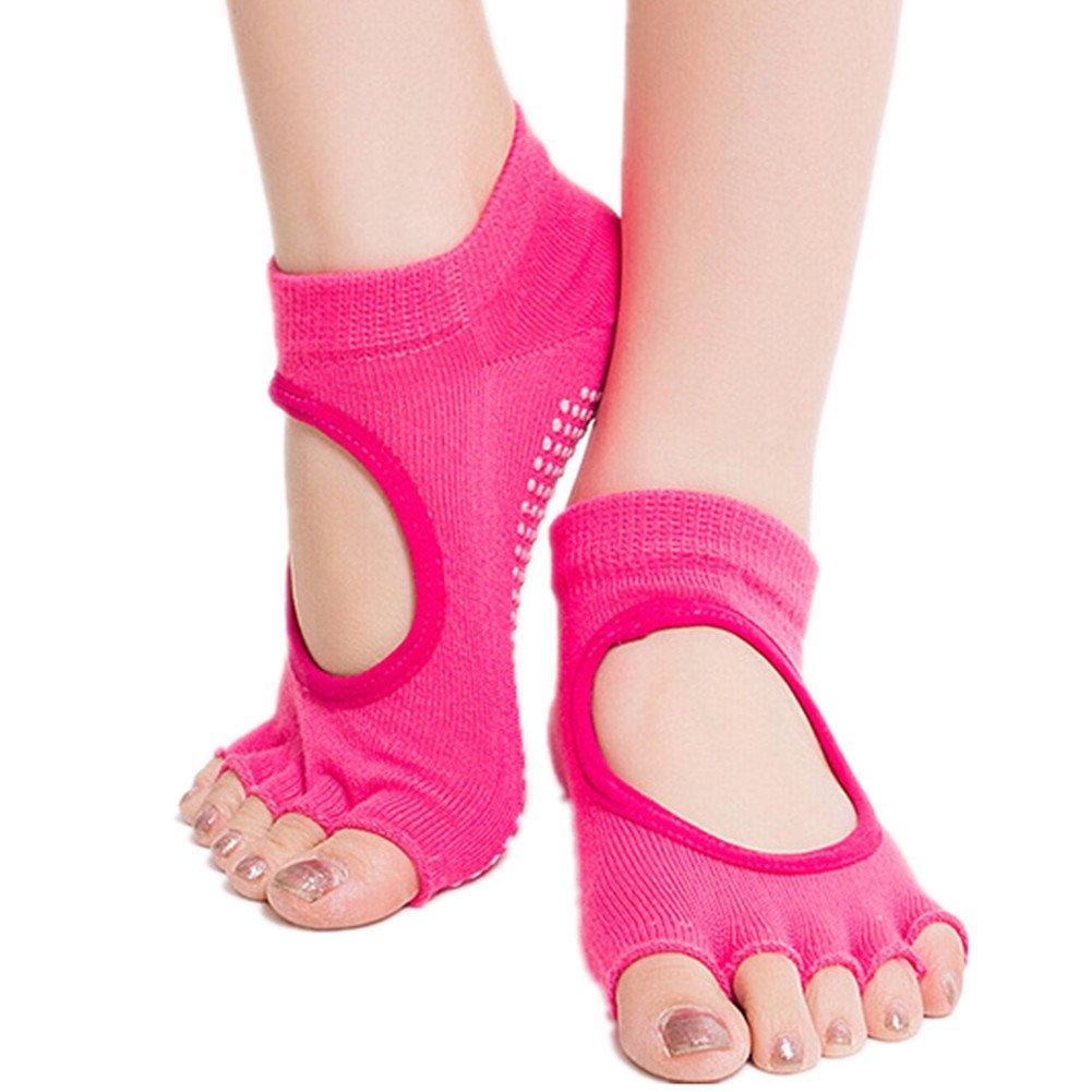 Tanz//Yoga Comfort Frauen Mädchen Non-Slip Halb Toe Ankle Grip Pilates Socken