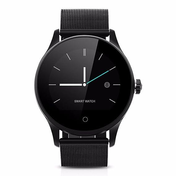 Ablebro Reloj inteligente IPS redondo Protector de apoyo Monitor de frecuencia cardiaca Bluetooth Metal reloj k88h Smartwatch para Android iPhone ...