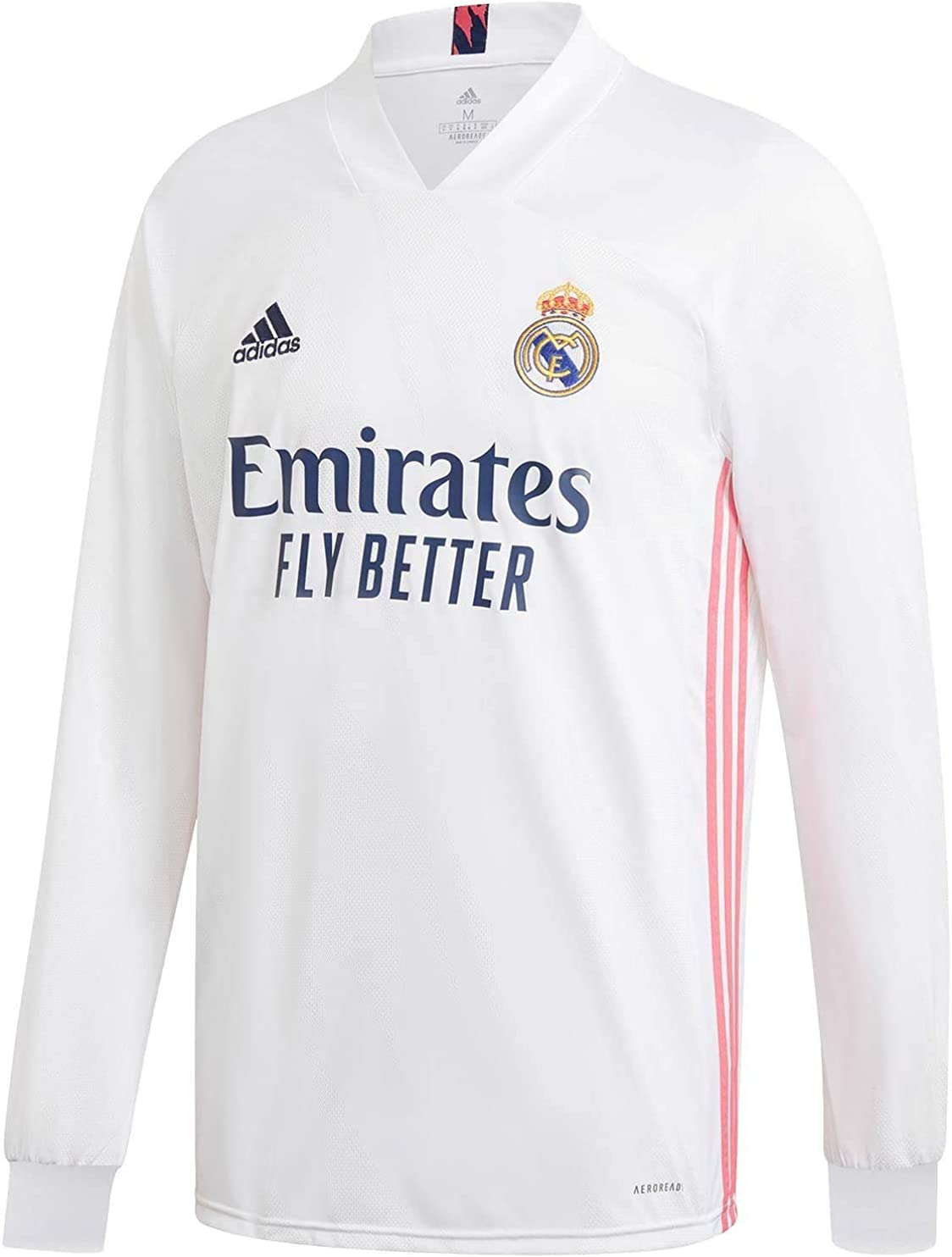 adidas Real Madrid CF Home Men's Long Sleeve Soccer Jersey- 2020/21 (Large)
