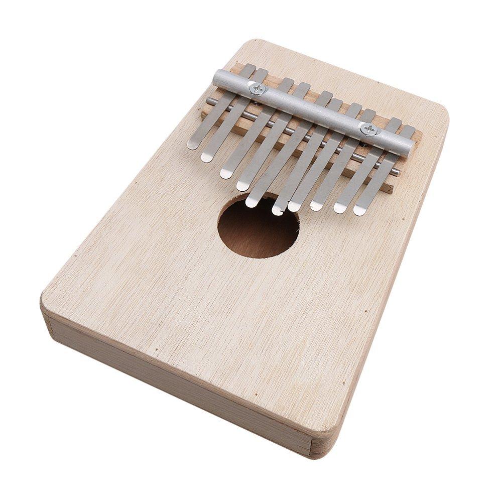 BQLZR 10 Keys Wooden Kalimba Mbira Thumb Piano Traditional Musical Instrument BQLZRN27886