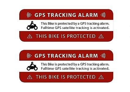 2 Pegatinas para GPS con Alarma de Seguimiento, Aviso de Advertencia sobre Seguridad GPS, Adhesivo Exterior para Ventanas, Coches, Motos, Camiones, ...