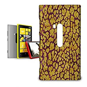 Phone Case For Nokia Lumia 920 - Gold Glam Leopard Back Cover