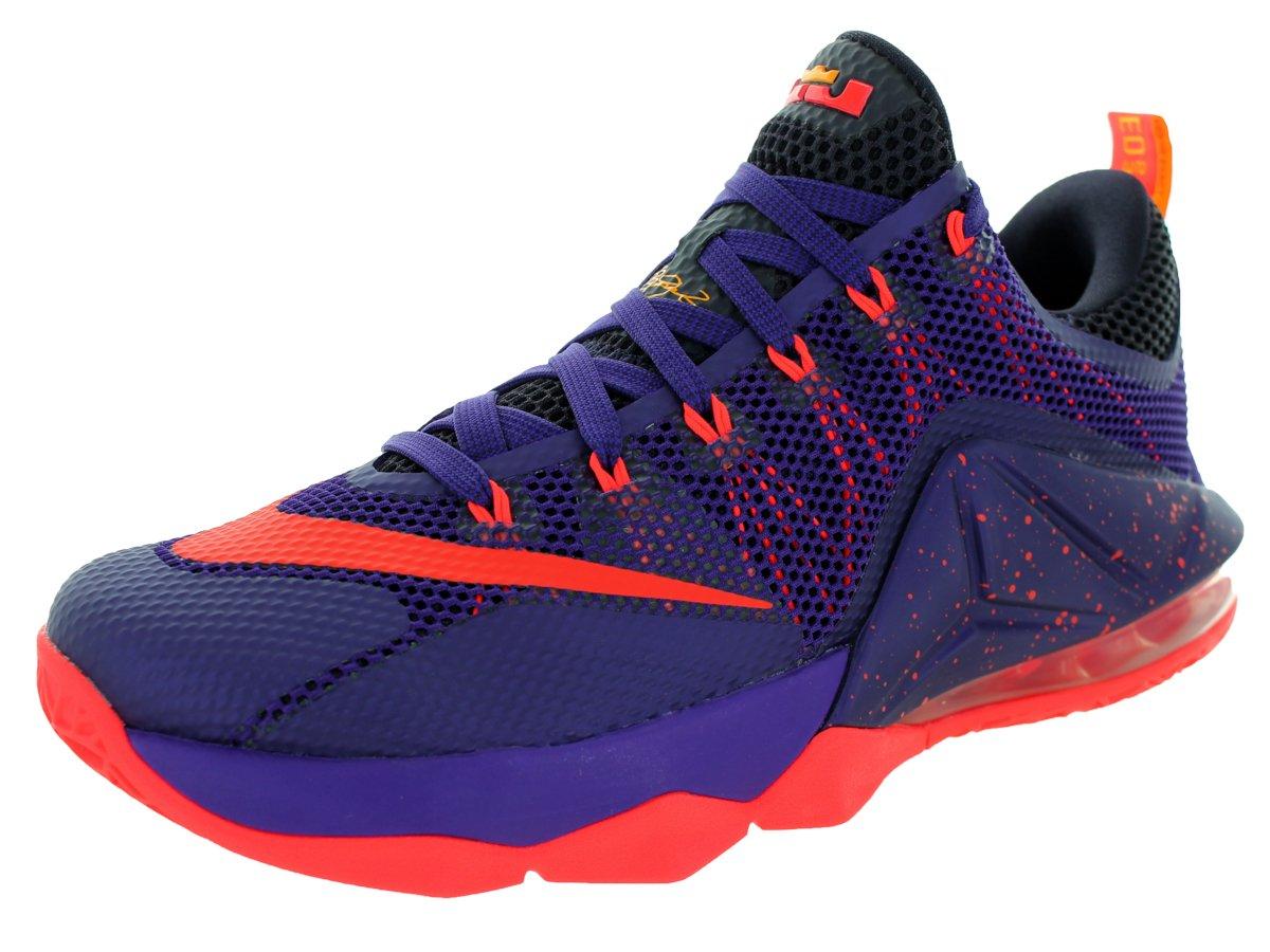 Nike Mens Lebron Xii Low Basketball Shoe  47.5 EU|Crt Prpl/Brght Crmsn/Cv Prpl/L