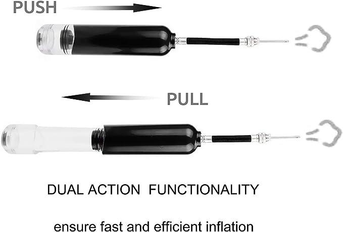 Dosanro Portable Ball Pump,Dual Action Air Pump Kit With Needles Needle Extensio
