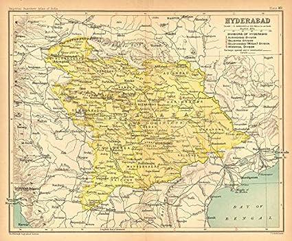 Amazon com: 'Hyderabad'  British India Province  Telangana