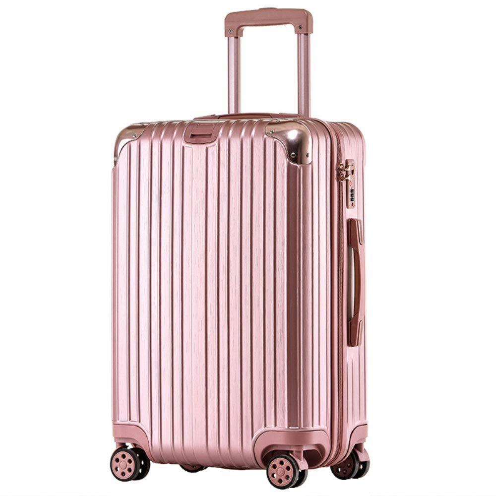 男性と女性のためのトロリーケースジッパースーツケースユニバーサルホイールビジネス搭乗(20/24/26/29インチ) (Color : ローズゴールド, Size : 29 inch)   B07RF58V2M