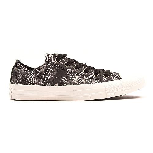 Converse All Star Ox Donna Sneaker Nero Inuovo7318 - Tira de Tobillo Mujer ebpNMYU