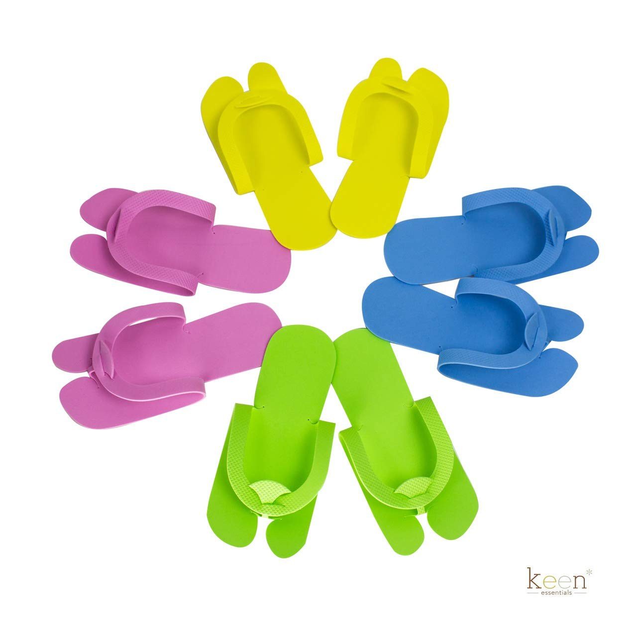 360 Pairs (1 case) Disposable Pedicure Slippers HOOKING Style, Foam Flip Flop Slippers by KEEN ESSENTIALS