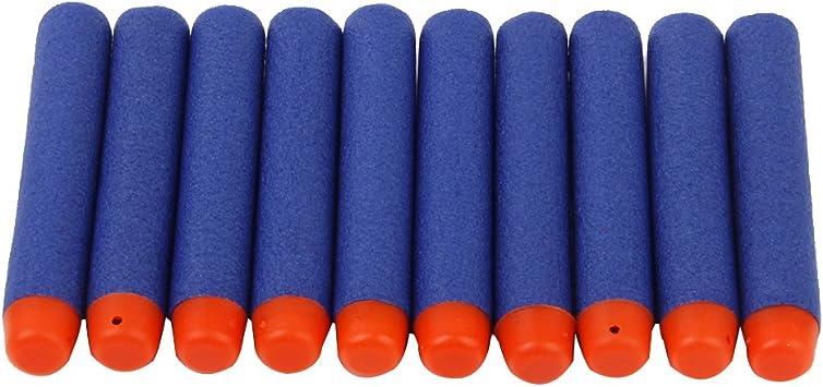 100 X Kid Freccette Schiuma Giocattolo Regalo Pistola Nerf Proiettile Per N strike Cannoni Elite Blu