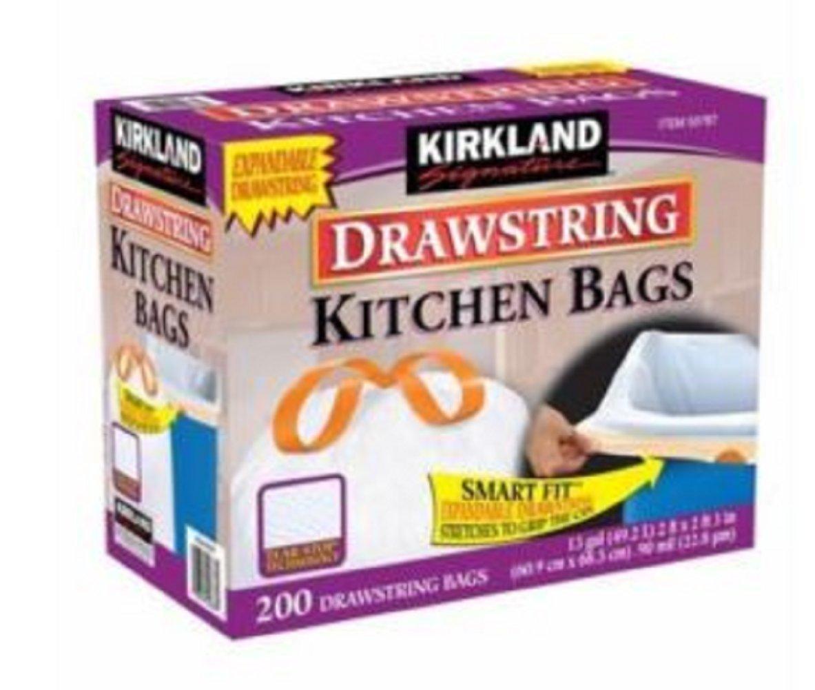 KIRKLAND カークランドシグネチャー DRAWSTRING KITCHEN BAGS B00L4OIQKC