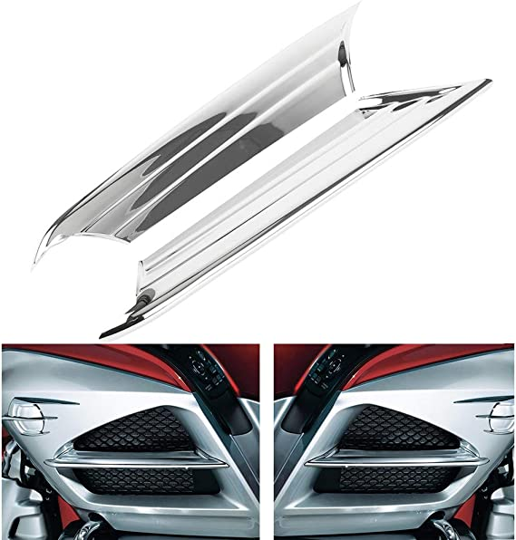 ABS Scoop Trim Fairing Accent Chrome Plasic for Honda Goldwing GL1800 2001-2011