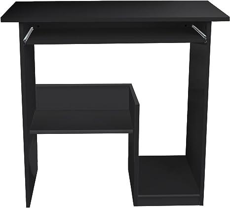 Lydan – Pella negro mesa de ordenador escritorio compacto para ...
