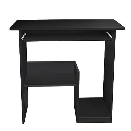 Lyndan Pella Table Informatique Compact Noir Bureau Meubles Pour