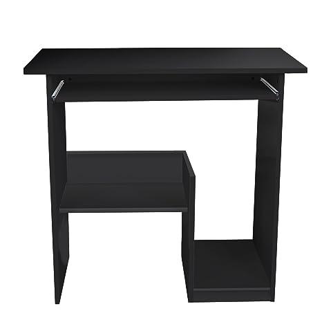 Lydan – Pella negro mesa de ordenador escritorio compacto para hogar y oficina muebles estación de